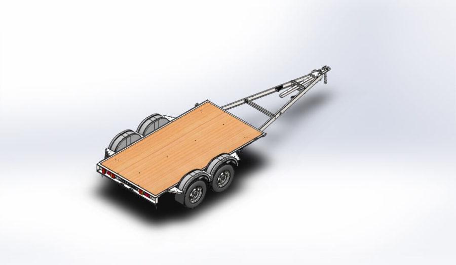 Модульный двухосный автоприцеп ДОН N5521