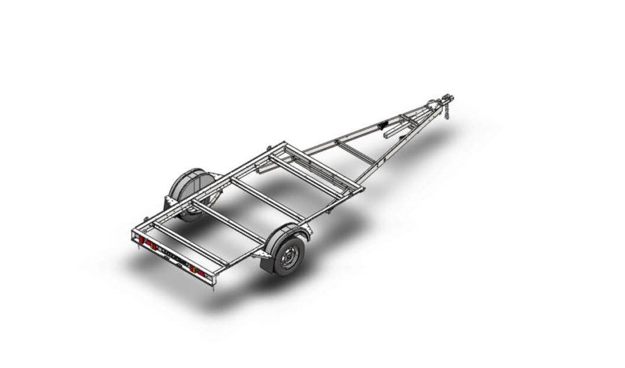 Легковой модульный авто прицеп ДОН Н5521,