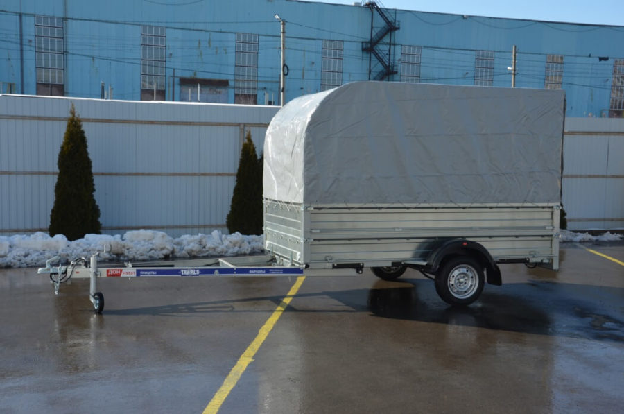 Новый прицеп ДОН Н5521 с дуговым тентом по низкой цене