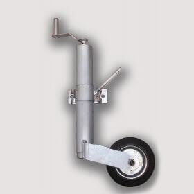 Подкатное колесо для автомобильного легкового прицепа